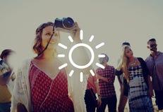Luz del sol Sunny Summer Spring Vacation Concept de la sol Fotografía de archivo libre de regalías