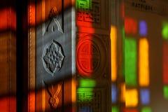 Luz del vidrio manchado Imágenes de archivo libres de regalías