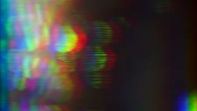 Luz del vintage, transformaciones coloridas, m?n concepto de la TV Escapes ligeros para los proyectos creativos almacen de video