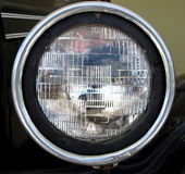 Luz delantera del coche viejo Imagen de archivo
