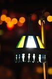 Luz despacio de la electricidad del obturador del foco de la falta de definición de la noche de Bokeh Imagen de archivo libre de regalías