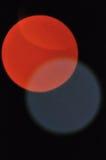 Luz despacio de la electricidad del obturador del foco de la falta de definición de la noche de Bokeh Fotografía de archivo libre de regalías