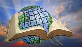Luz divina del espiritual de la biblia Imagenes de archivo