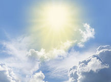 Luz divina milagrosa imagen de archivo