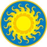 Luz do ícone de Sun Fotografia de Stock