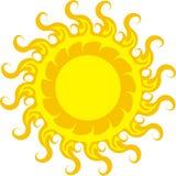 Luz do ícone de Sun Fotos de Stock Royalty Free