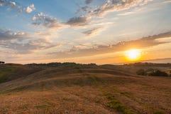 Luz do amanhecer na Toscânia Imagem de Stock