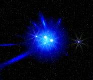 Luz do azul do espaço Imagens de Stock