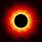 Luz do brilho do eclipse solar. EPS 8 Fotografia de Stock Royalty Free