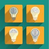 Luz do cérebro e de bulbo Foto de Stock