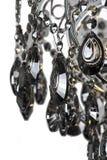 Luz do candelabro no interior, close-up do candelabro de Chrystal parte de cristal do candelabro, candelabro, iluminação, equipam Imagens de Stock