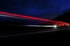 Luz do carro em de um estado a outro no Arizona Fotografia de Stock