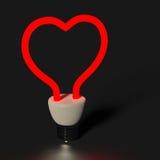 Luz do coração imagens de stock