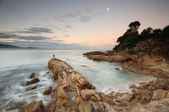 Luz do crepúsculo em Bermagui, costa sul Austrália Imagens de Stock
