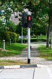 Luz do cruzamento de pedestre Fotografia de Stock Royalty Free