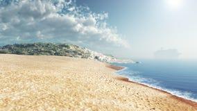 Luz do dia do céu azul da praia do mar Foto de Stock