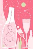 Luz do â dos anos da notícia - tema cor-de-rosa Fotografia de Stock Royalty Free