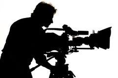 Luz do estúdio na posição para a cena do filme. fotografia de stock
