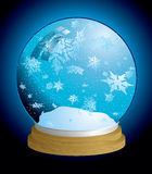 Luz do globo da neve Foto de Stock Royalty Free
