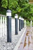 Luz do jardim no jardim home fotos de stock royalty free