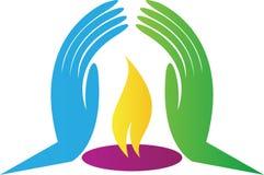 Luz do logotipo da confiança Fotografia de Stock Royalty Free