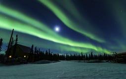 Luz do norte na paz Imagem de Stock Royalty Free