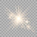 Luz do ouro com fa?sca ilustração royalty free