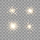 Luz do ouro com poeira ilustração royalty free