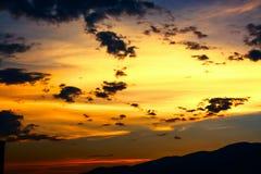 Luz do ouro, por do sol Foto de Stock