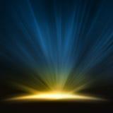 Luz do outeiro imagens de stock