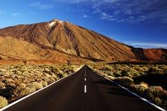 Luz do por do sol sobre o parque nacional de Teide Imagem de Stock Royalty Free