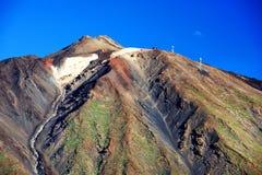 Luz do por do sol sobre o parque nacional de Teide Foto de Stock