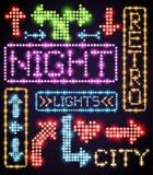 Luz do sinal de néon Fotografia de Stock