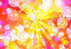 A luz do sol borbulha fundos Fotos de Stock