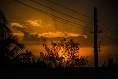 Luz do sol calma através das nuvens! Fotografia de Stock