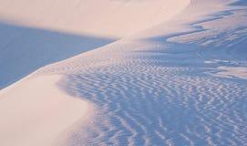 Luz do sol da manhã sobre as areias brancas Fotografia de Stock Royalty Free