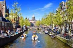 Luz do sol de Amsterdão Imagem de Stock Royalty Free