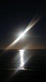 Luz do sol de dezembro que olha para fora ao mar Fotografia de Stock Royalty Free