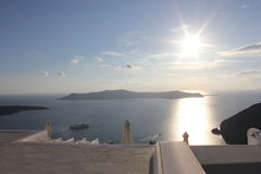 Luz do sol de Grécia Imagem de Stock Royalty Free