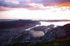 Luz do sol de Noruega Imagem de Stock Royalty Free
