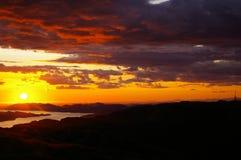 Luz do sol de Noruega Imagem de Stock
