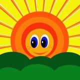 Luz do sol de sorriso ilustração do vetor
