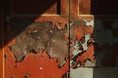 A luz do sol desliza na porta Foto de Stock