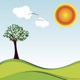 Luz do sol do bom dia Ilustração do Vetor