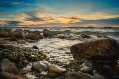 Luz do sol do mar Foto de Stock