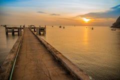 Luz do sol do mar Foto de Stock Royalty Free