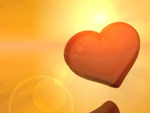 Luz do sol e coração Imagens de Stock
