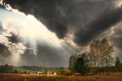 Luz do sol e sombras Fotos de Stock