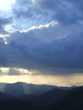 Luz do sol e tempestade Imagens de Stock Royalty Free