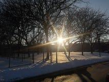 Luz do sol escondida Imagem de Stock
